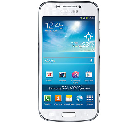 SAMSUNG Galaxy S4 Zoom Foto-Smartphone mit 10x opt. Zoom, Amoled Display, 8GB, NFC