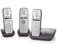 GIGASET Basic DECT-Telefon 3 Mobilteile Anrufbeantworter Made in Germany
