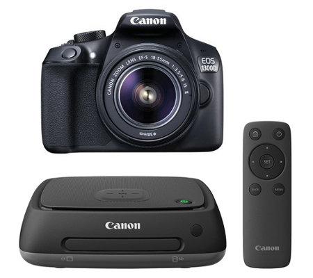 CANON Spiegelreflexkamera 18MP, WLAN, NFC mit Connect Station & 16GB SD-Karte
