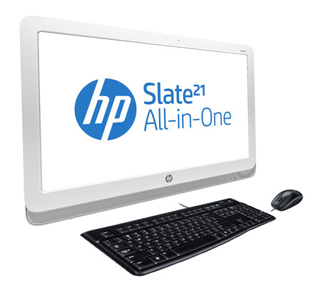 HP All-in-One PC 54,6cm IPS-Display Full HD Touchscreen inkl. Tastatur & Maus