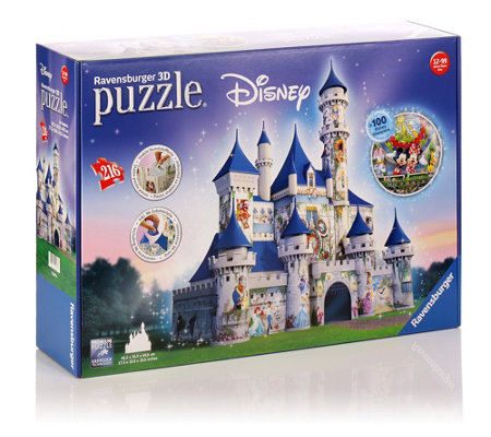 disney ravensburger 3d puzzle schloss 216 puzzleteile ab 12 jahren. Black Bedroom Furniture Sets. Home Design Ideas