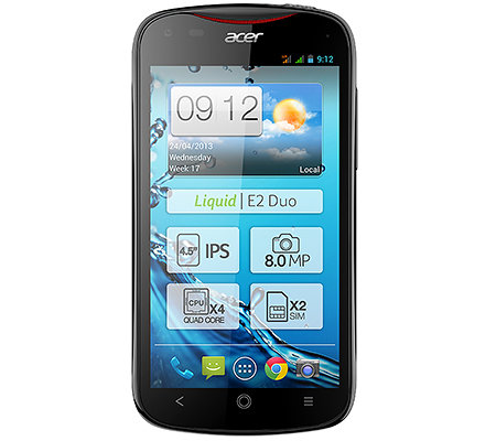 ACER Smartphone 11,4cm IPS-Display Quad-Core Prozessor 4GB, 8MP Kamera