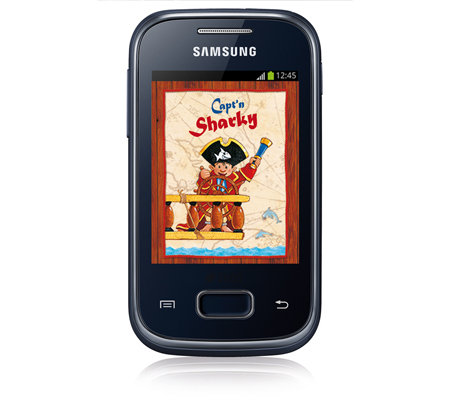 SAMSUNG Kinderhandy Captain Sharky Android 4.0 integr. Digitalkamera