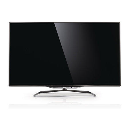 PHILIPS 117cm 3D Smart TV 3-seitiges Ambilight 1400Hz, WLAN, USB integr. Skype Kamera