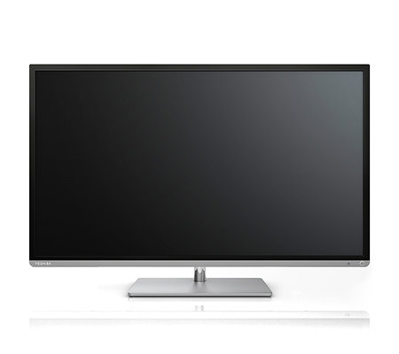 TOSHIBA Smart LED-TV WLAN, 100Hz HD Dreifach Tuner USB, Aluminiumfinish