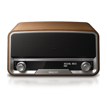 PHILIPS Retro Radio Musikwiedergabe von iPod, iPhone, MP3-Player, PC
