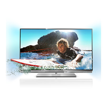 PHILIPS 94cm 3D Smart-TV Ambilight, 600Hz HD Dreifach Tuner QWERTY Fernbedienung