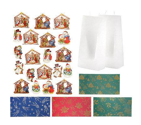 kerzenkunst weihnachten ornamente giebel kerzen 30tlg. Black Bedroom Furniture Sets. Home Design Ideas