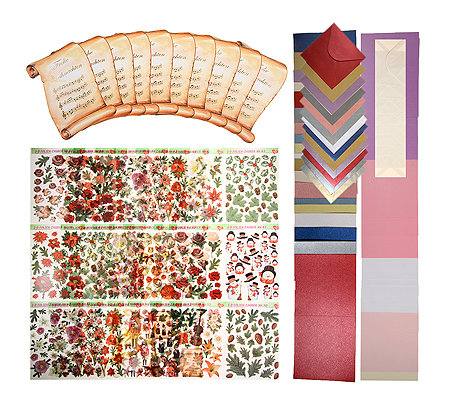 gru karten 3d folienzauber weihnachten gru karten 137tlg. Black Bedroom Furniture Sets. Home Design Ideas