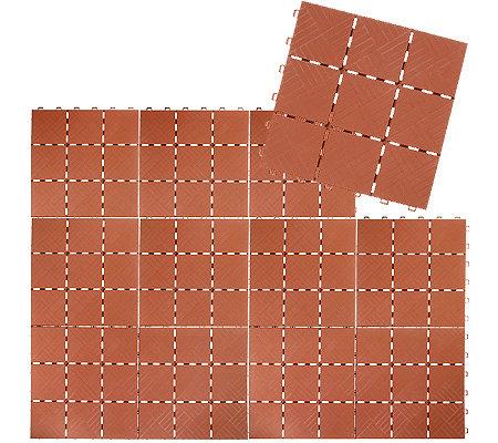 Bodensystemfliesen aus kunststoff versch optiken 12 bodenfliesen ergibt 1 08qm - Bodenfliesen balkon kunststoff ...