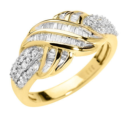 GLAMOUR DIAMONDS 68 Diamanten zus.ca.0,50ct. Ring Gold 333