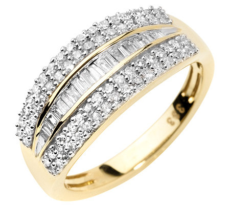 GLAMOUR DIAMONDS 88 Diamanten zus.ca.0,50ct. Ring Gold 333