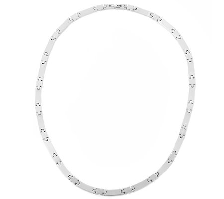 DIAMONIQUE® TITAN = 0,30ct Collier poliert/mattiert