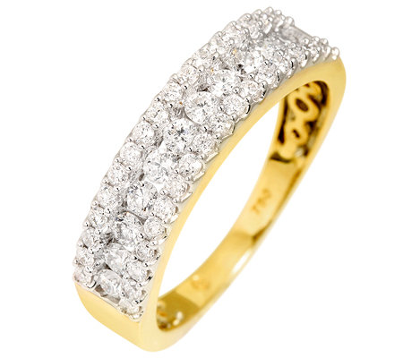 CANADIAN DIAMONDS 48 Brillanten zus.ca.0,75ct. feines Weiß/SI2 Ring, Gold 750