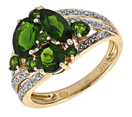 Russischer Chromdiopsid 1,85ct Cocktail-Ring Gold 375