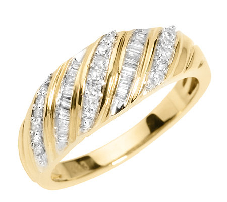 GLAMOUR DIAMONDS 39 Diamanten zus.ca.0,25ct. Ring Gold 333