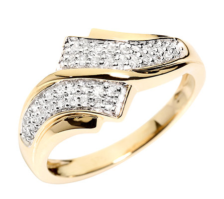 FIRST DIAMOND 40 Diamanten zus.ca.0,18ct. Ring Gold 375