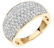 123 Brillanten Ring zus. ca. 1,00ct Weiß/P1 Gold 585