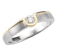 Ring Brillant Platin Gold - 611110