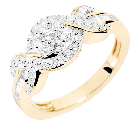 GLAMOUR DIAMONDS 51 Diamanten zus.ca.0,50ct. Weiß/P1 Ring, Gold 585