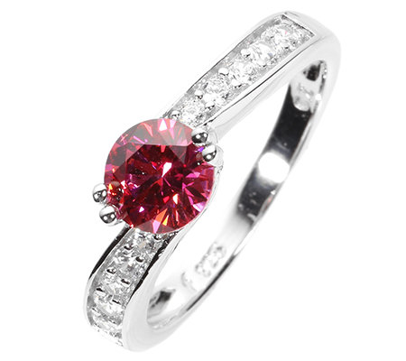 DIAMONIQUE® WILD BERRY = 1,12ct Rivière-Ring Silber rhodiniert