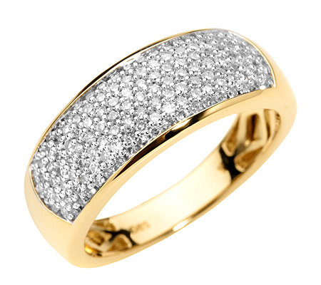 133 Diamanten zus.ca.0,52ct. Weiß/P1 Pavé-Ring Gold 585