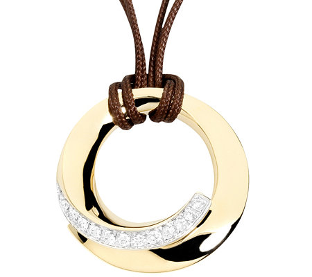 CARA D'OR 13 Brillanten zus.ca.0,12ct. Collier mit Anhänger Gold 585