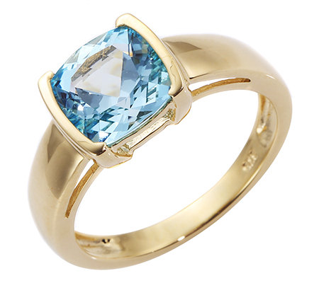 Itinga Topas Skyblue 2,25ct. Solitär-Ring Gold 375