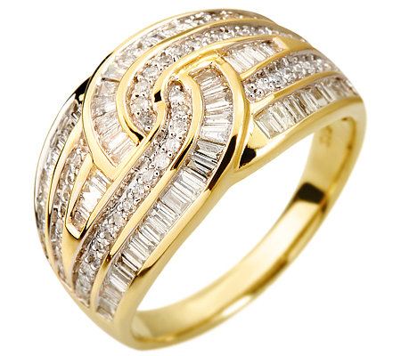 GLAMOUR DIAMONDS 114 Diamanten zus. ca. 0,83ct Ring Gold 585