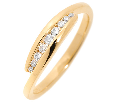 FIRST DIAMOND 9 Brillanten zus.ca.0,12ct. Ring Gold 375