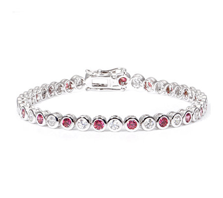 DIAMONIQUE® WILD BERRY = 4,00ct Armband Silber rhodiniert