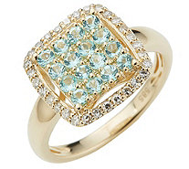 Ring Turmaline Diamanten - 606914