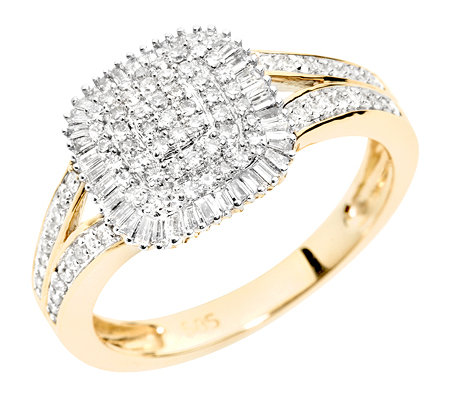 GLAMOUR DIAMONDS 125 Diamanten zus.ca.0,40ct. Entourage-Ring Gold 585