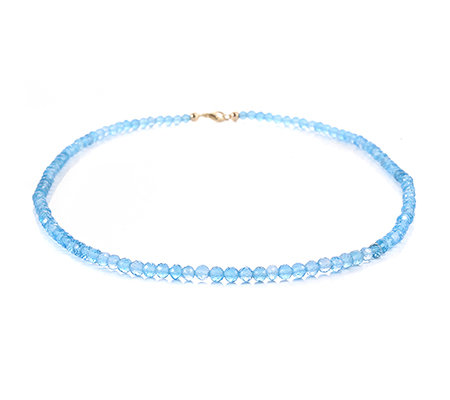 Itinga Topas Swissblue 74,00ct Collier Gold 375
