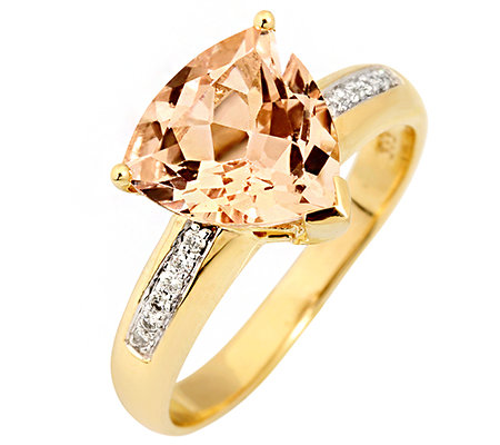 Morganit AAA/3,00ct 12 Brill.0,07ct Ring Gold 585