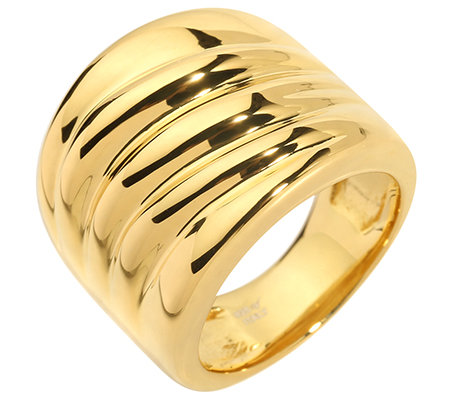 VERONESE COLLECTION Silber 925 Ring poliert 18K vergoldet
