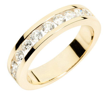10 Brillanten zus.ca.0,75ct. get.Weiß/lupenrein Memoire-Ring Gold 585