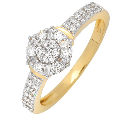 GLAMOUR DIAMONDS 47 Diamanten zus.ca.0,50ct. Ring Gold 585