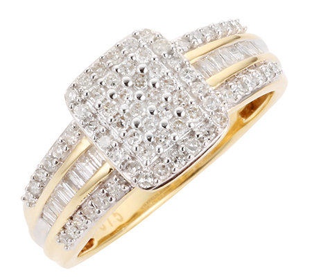 GLAMOUR DIAMONDS 84 Diamanten zus.ca.0,50ct. Cocktail-Ring Gold 375