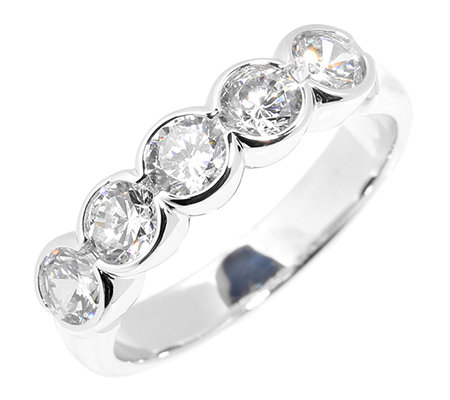 DIAMONIQUE® EPIPHANY = 1,25ct Eternity-Ring Silber 925
