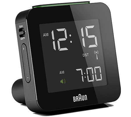 BRAUN Funkreisewecker weltw. Empfang LCD-Display Snooze-Funktion