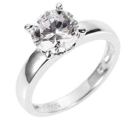 DIAMONIQUE® EPIPHANY = 2,00ct Solitär-Ring Silber 925