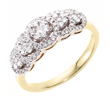 CANADIAN DIAMONDS Ring 89 Brillanten zus. ca. 0,50ct Gold 750