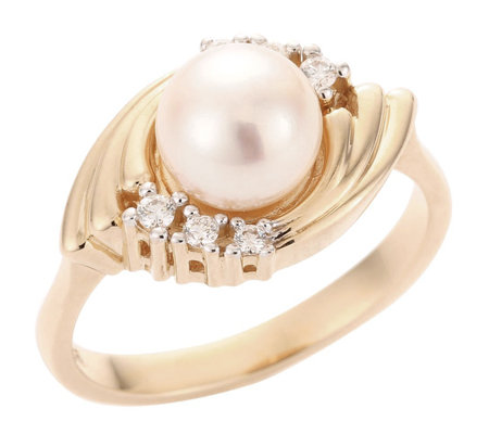AKOYA Zuchtperle 7,5-8mm Ring Gold 585