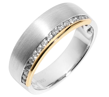 16 Brillanten Ring zus. ca. 0,32ct Weiß/SI Platin950/Gold750