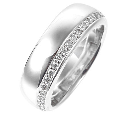 DIAMONIQUE® EPIPHANY = 0,23ct Eternity-Ring Silber 925