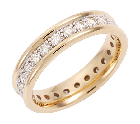 mind. 22 Brillanten zus.ca.0,80ct g.Weiß/lupenrein Eternity-Ring Gold 585