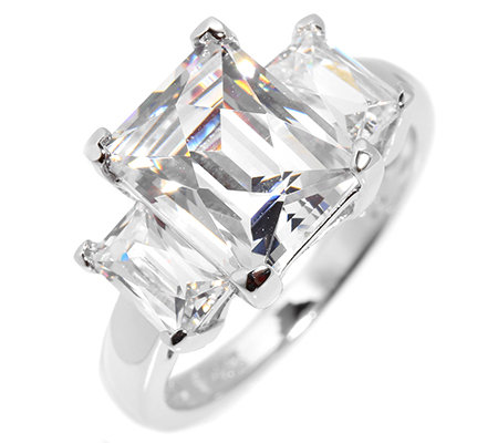 DIAMONIQUE® EPIPHANY = 5,00ct Trilogie-Ring Silber 925