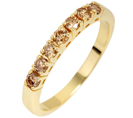 7 Brillanten zus.ca.0,35ct. naturfarben/P1 Memoire-Ring Gold 333