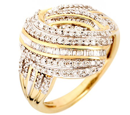 GLAMOUR DIAMONDS 141 Diamanten zus.ca.0,50ct. Weiß/P1 Ring, Gold 333